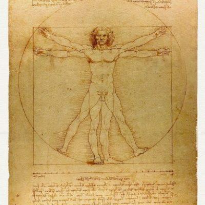 Czlowiek-WITRUWIANSKI-Leonardo-DA-VINCI-1490-r